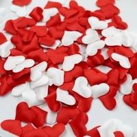 100pcslot sponge heart shaped decoration diy romantic confetti simulation love valentines day wedding decoration 2cm