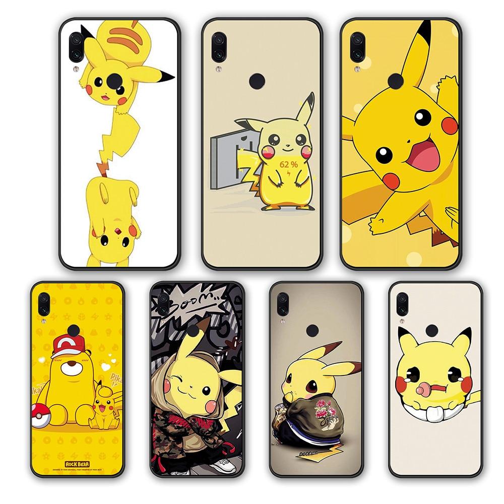 CASE For Xiaomi Redmi Note 7 8 Pro K20 GO Redmi S2 6A 5A 4A 4 5 6 Pro Japanese cartoon animation Pikachu silicone TPU cover