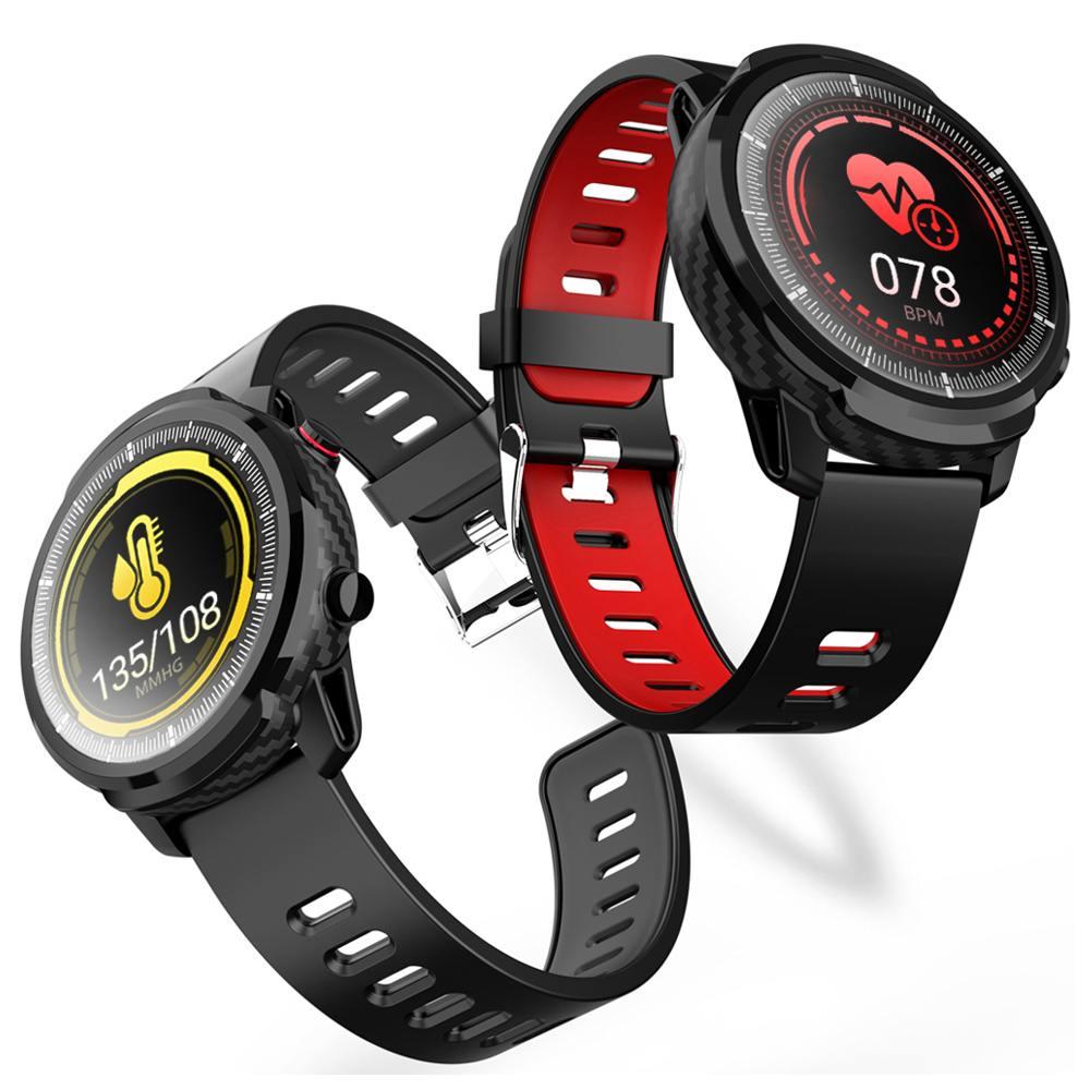 Senbono s10 relógio inteligente mais tela círculo de toque completo freqüência cardíaca bp monitor personalizar na tela de exibição smartwatch android ios