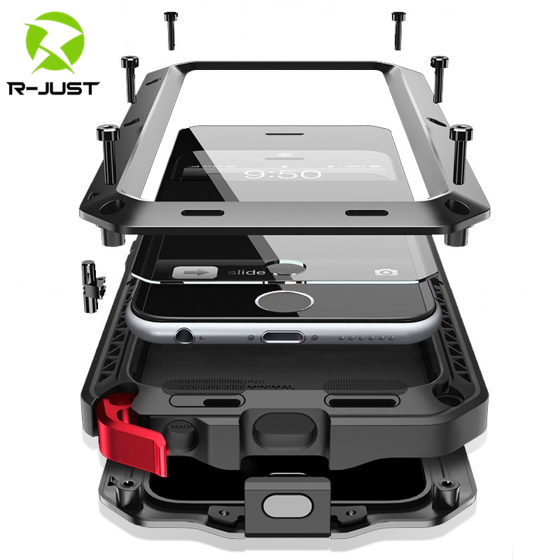 aliexpress.com - Heavy Duty Protection Armor Metal Aluminum phone Case for iPhone 11 12 mini Pro XS MAX SE 2 XR X 6 6S 7 8 Plus Shockproof Cover