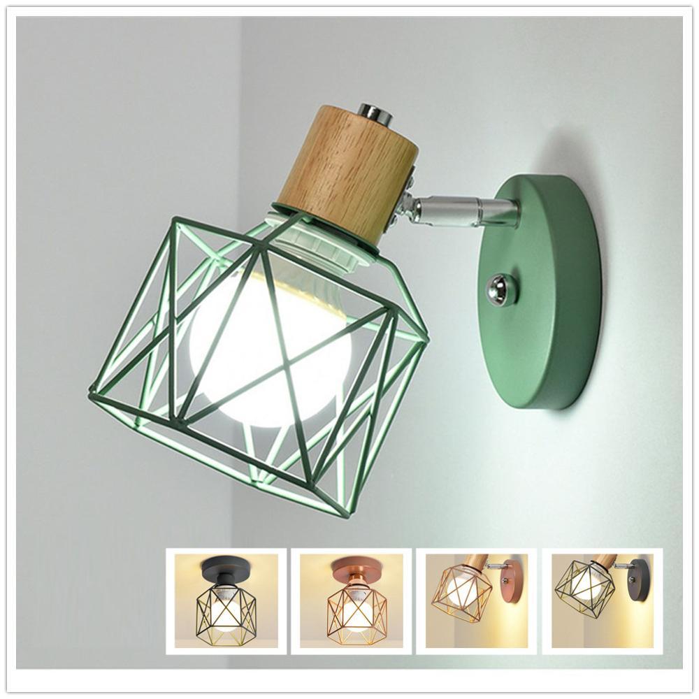 Estilo nórdico de modernas luces de pared LED lámpara de pared para cabecera de madera aplique de pared lámpara de techo moderna para interior para cocina dormitorio