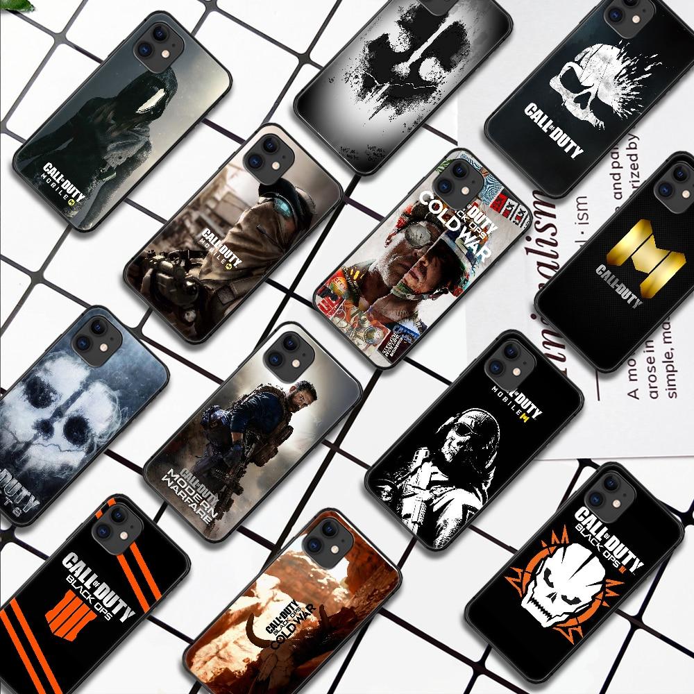 Llamada de servicio negro Ops Clod guerra caja del teléfono para IPhone...