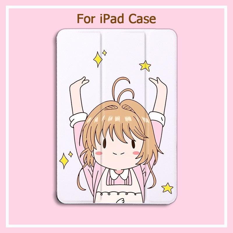 Cardcaptor Sakura For ipad mini Case Folding PU Leather Cover Smart Sleep/Wake stand For 10.2-in 7th ipad pro 11 case 2020 Air 2