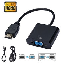 HDMI-compatible to VGA Adapter Cable HD 1080P Digital to Analog Video Audio Converter for PS4 TV box