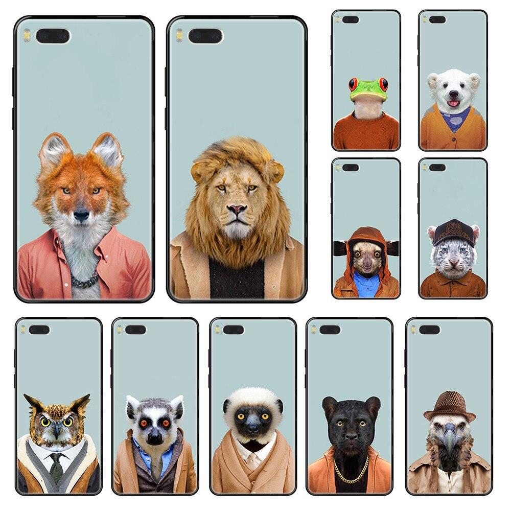 Zoo Portraits Like Humans Orange Animals  prime black Phone case For Xiaomi Redmi Mi 3 5 6 8 9 A1 2 Max3 Mix2 X SE Lite Pro