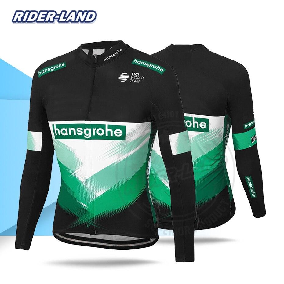 2020 Jersey de manga larga Pro Race hombres hansgrohe ropa de ciclismo transpirable secado rápido Anti-sudor MTB ciclo Tops de Triatlón