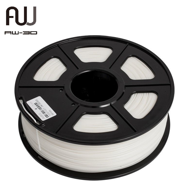 AW 3D خيوط PA النايلون 1 كجم 1.75 مللي متر 2.2 LBS شفافة وصلابة جيدة 100% لا فقاعة FDM 3D طابعة الطباعة المواد مع بكرة