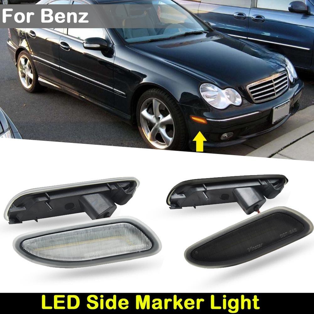 For USA Version BENZ W203 C CLASS C230 C240 C280 C32 AMG C320 C350  Car Front Amber LED Side Marker Lamp Turn Signal Light