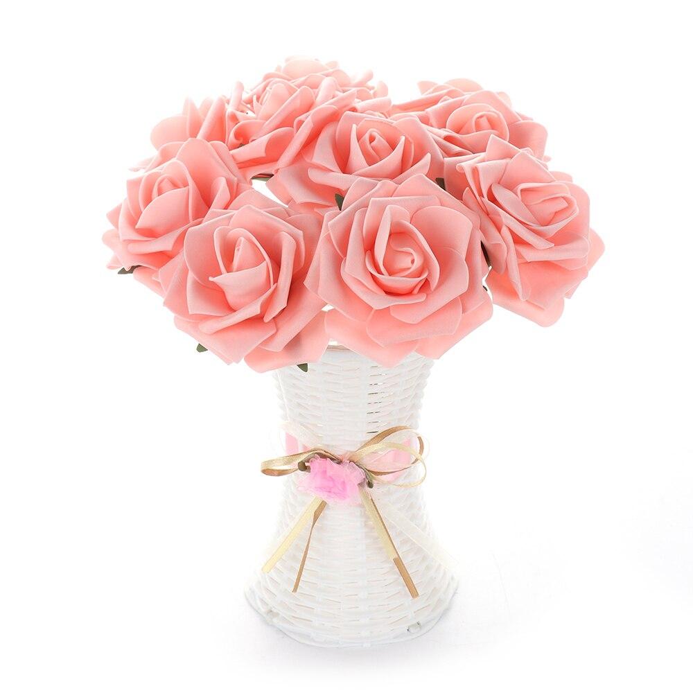 10 головок 8 см/6 5 см искусственные розы Свадебные невесты букет полиэтиленовый