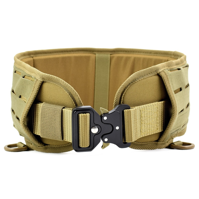 excellent elite spanker outdoor tactical molle nylon patrol waist belts army military accessories jungle hunting combat men belt Military Army Molle Tactical Belt Men Padded Waist Support Airsoft Waist Belts Combat Girdle Outdoor Training Hunting Waistband