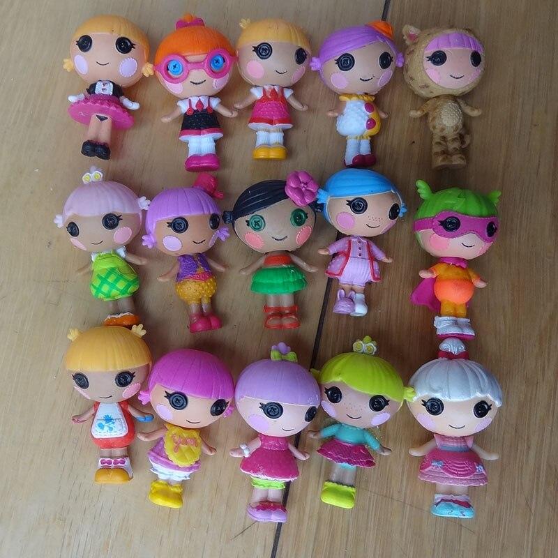 10 шт./компл., много видов лалалоопси, 3 см, содержит русалочку, куклы, Мини-куклы для девочек, каваи, игрушка с животными, детские куклы