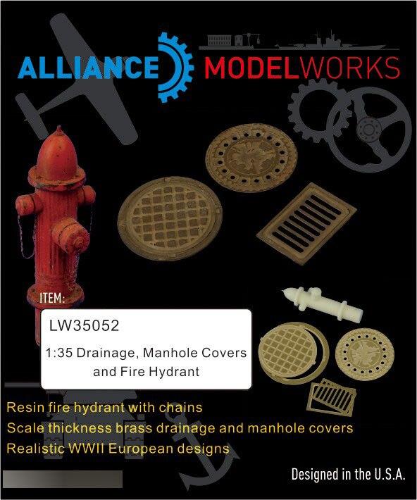 1/35 аксессуары модели дренаж, крышки люка и пожарный гидрант LW35052
