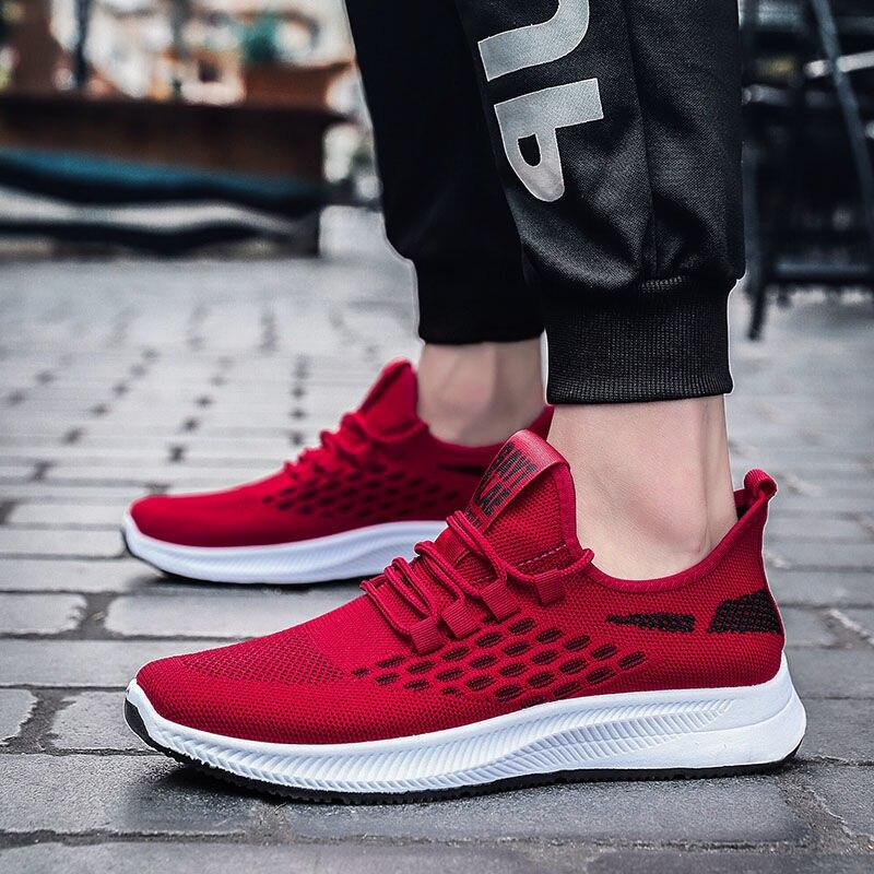 2020 nuevo deporte casual de moda Zapatos de malla transpirable zapatillas de deporte de los hombres de verano-Encuentro de zapatillas de deporte