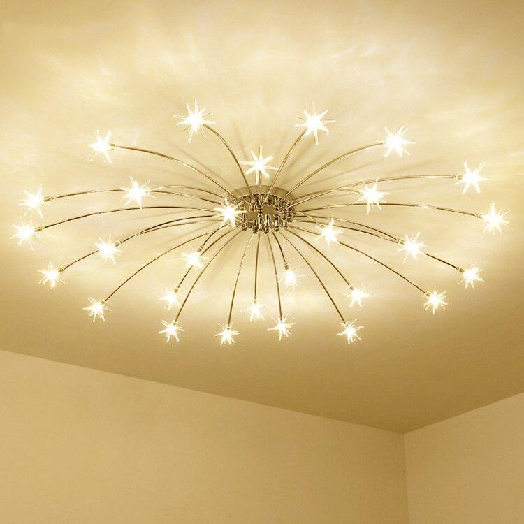 Lámparas led modernas de techo, iluminación nórdica, decoración industrial, comedor, sala de...