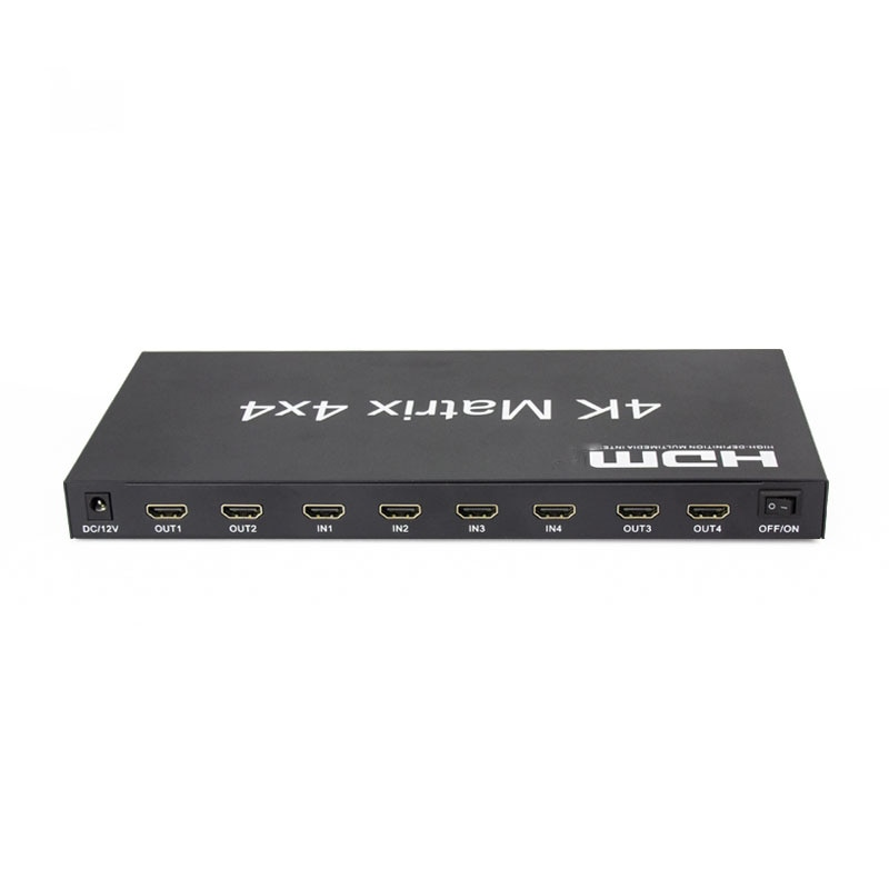 2.0 HDMI-compatible Matrix 4x4 4K@60Hz(RGB/YUV 4:4:4)Switch Splitter 4 in 4 out control through RS232 or IR remote HDMI-Switcher enlarge