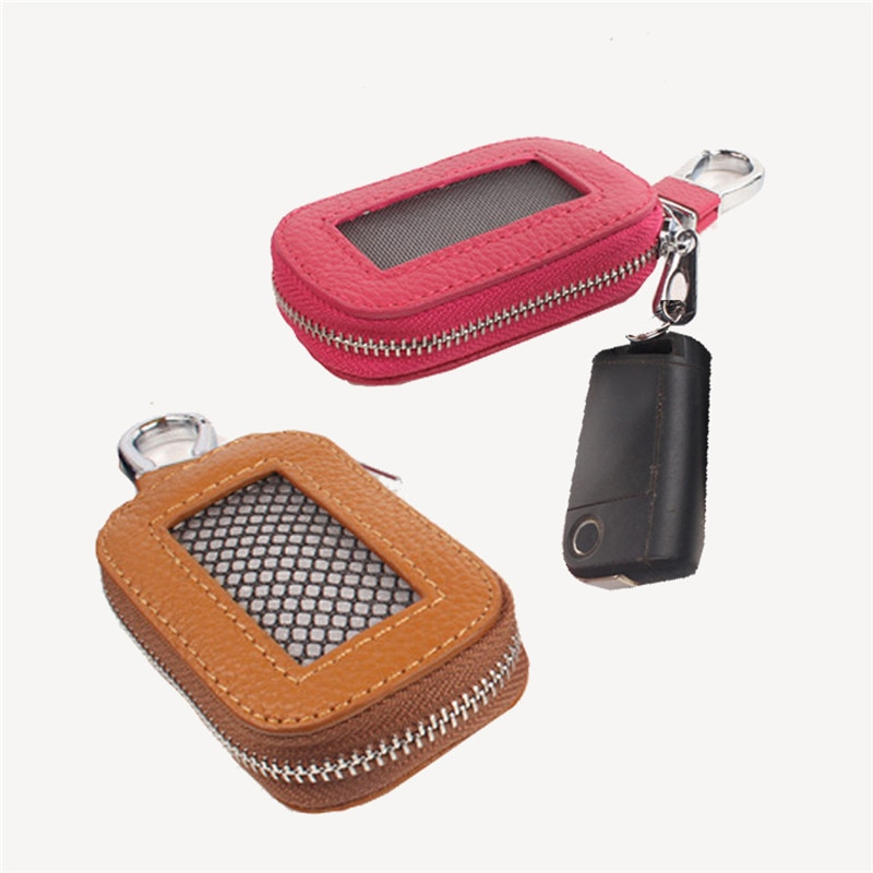 Fashion Simple Key Holder PU Leather Unisex Solid Key Wallet Organizer Bag Car Housekeeper Wallet Ke