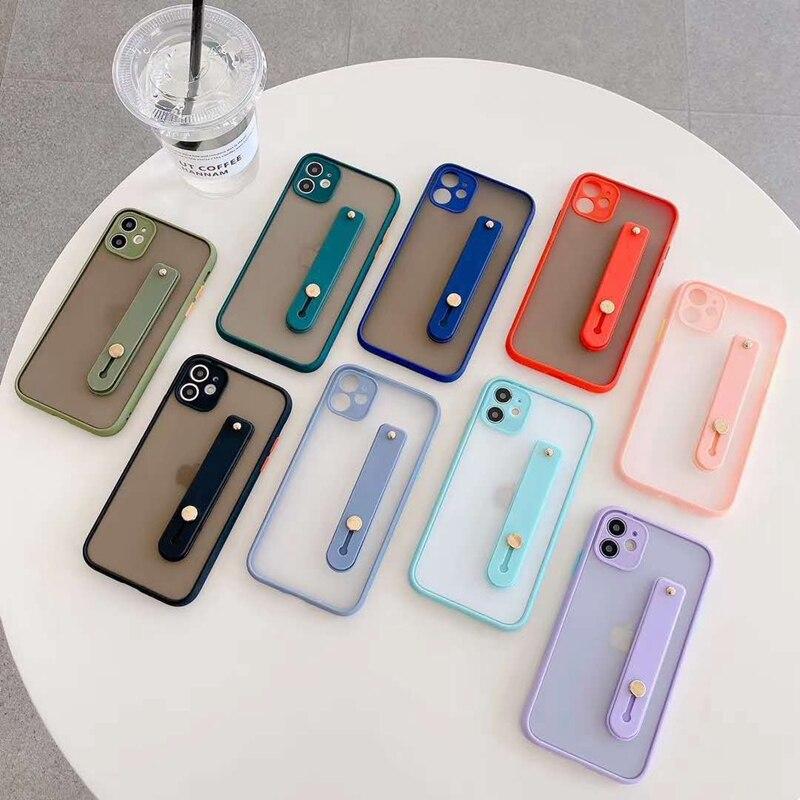 Camera Protection Wrist Strap Phone Cases For Huawei Nova 6 7 8 SE 7i 5T 3i 2i 4 5 5i Pro Enjoy 9 10 20 Plus 10S Back Cover Etui