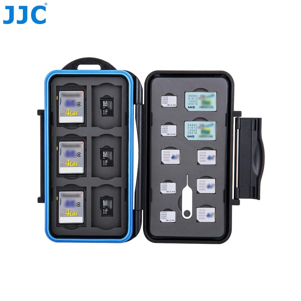 JJC Memory Card Case SIM/Micro SIM/Nano SIM/SD/SDHC/TFStorage for iPhone 8/8 Plus/X/7 Plus/6 Cards Water-Resistant Box