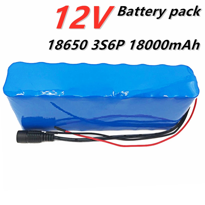 12V 12000mAh 充電式リチウムイオンバッテリーパック bms DC 11.1V 12.6V 18650 狩猟キセノン釣りランプ屋外光源カム PING