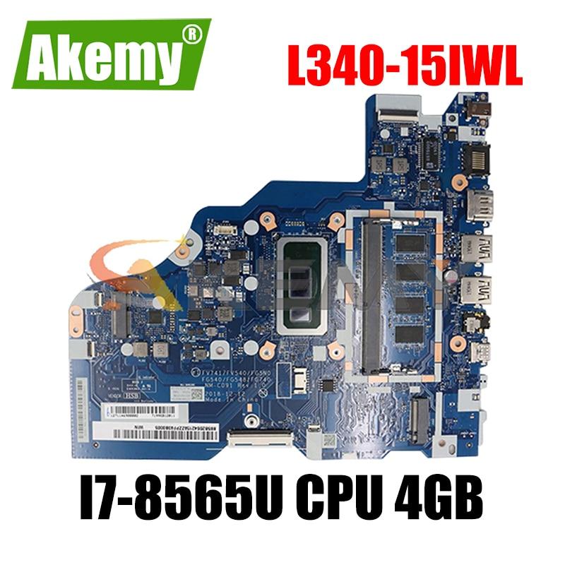 لينوفو IdeaPad L340-15IWL L340-17IWL اللوحة الأم المحمولة NM-C091 اللوحة الأم مع I7-8565U وحدة المعالجة المركزية 4 جيجابايت الذاكرة اللوحة الرئيسية