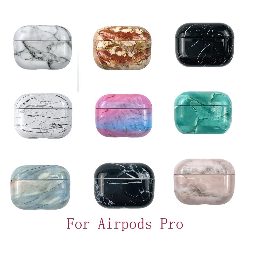 Funda de mármol 3D para Airpods Pro funda inalámbrica Bluetooth para Airpod 3 funda para Apple Air Pods Pro Fundas Coque carcasa