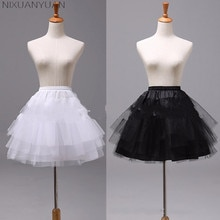 Nixuanyuan-女性用の白または黒のショートペチコート,ラインa,ウェディングドレス用の3層アンダースカート,ジャポンセルソースタイル,2021コレクション