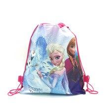 1pcs Disney Forzen Elsa & Anna Kid Favor Travel Pouch Storage Clothes Shoes Bags Cotton Drawstring B