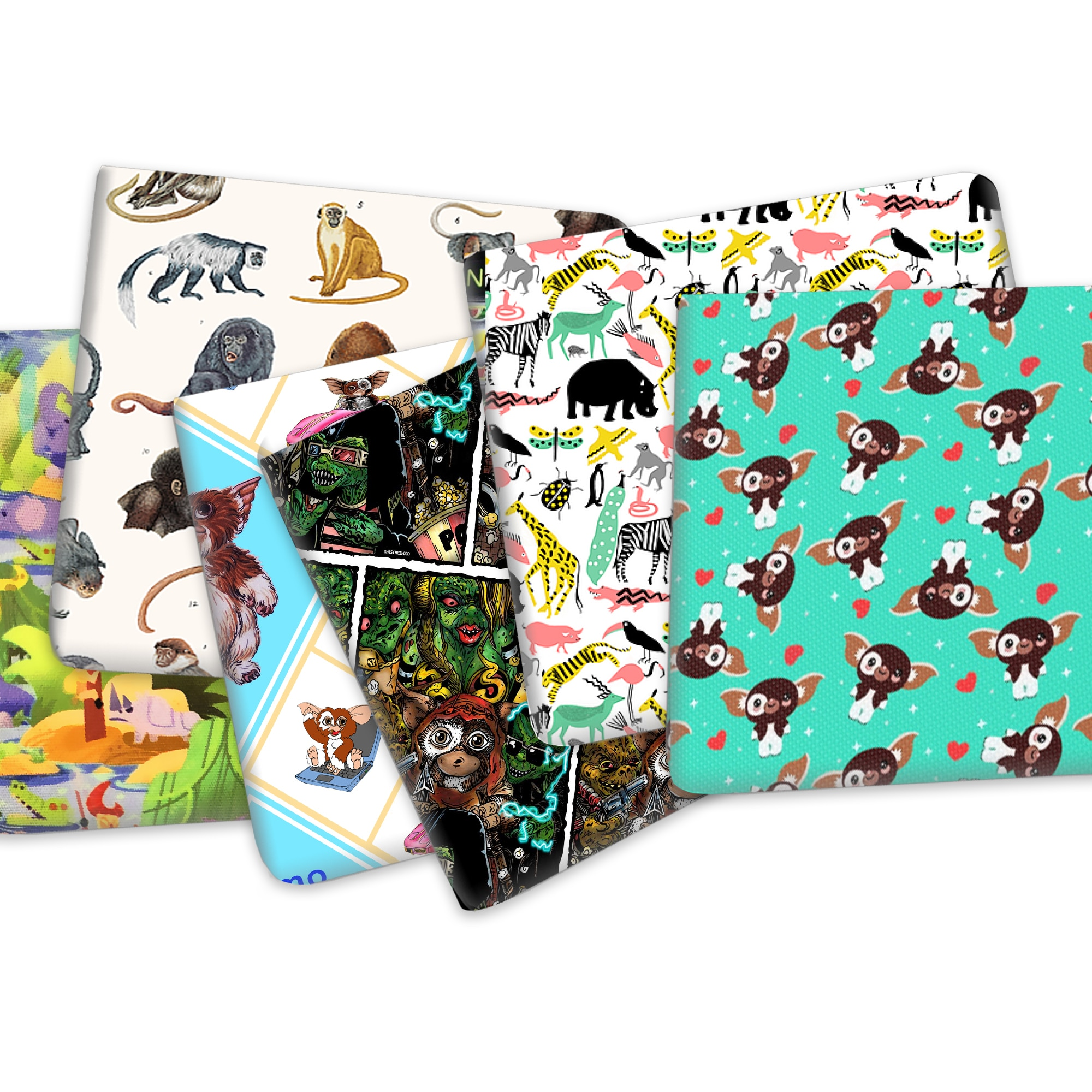 50*145cm Cartoon Bear Printed Poly Cotton Fabric for Tissue Kids Home Textile for Sewing Doll Weddin