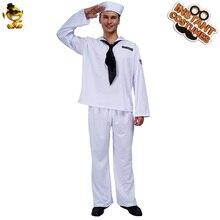 Fête de noël hommes marin Costume Costume Performance carnaval carrière blanc marin tenues vêtements