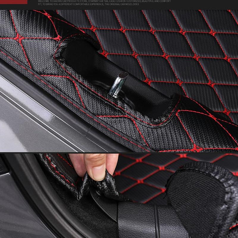 Trunk Mat For Hyundai Sonata DN8 2021 2020 Accessories Waterproof Full Encirclement Case Carpet Trunk Pat Protection enlarge