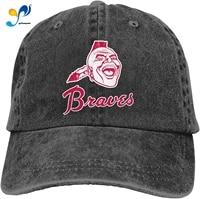 atlanta baseball brave sandwich cap denim hats baseball cap adult cowboy hat