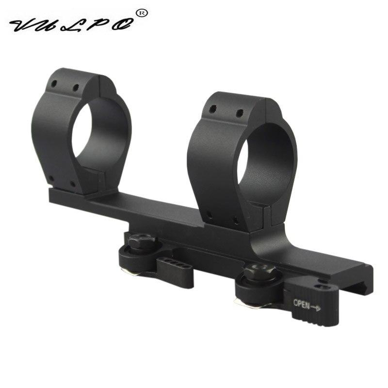 VULPO Tactical SPR-1.5 30mm de diámetro doble anillo de montaje QD Rail montaje para 20mm Picatinny Rail