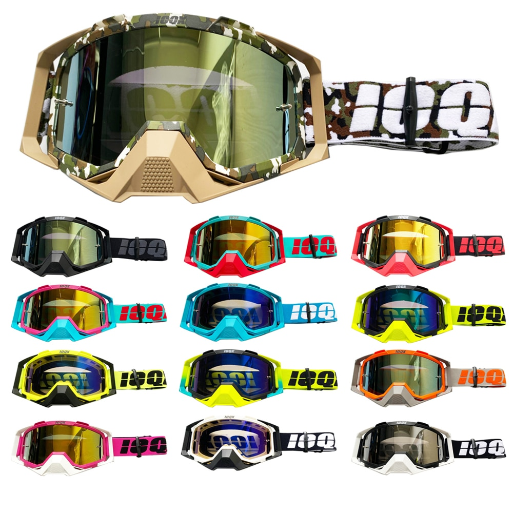 2021 Newest motorcycle sunglasses motocross safety protective MX night vision helmet goggles driver driving glasses motorcycle atv riding scooter driving flying protective frame clear lens portable vintage helmet goggles glasses for 2009 buell xb12r