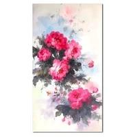 1 pc toile mur Art fleur rouge peinture mur Art deco sans cadre toile imprime oeuvre decorations pour la maison bureau decor cadeau