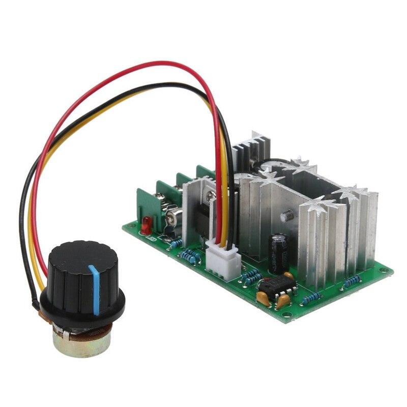 20A PWM controlador de velocidad del Motor de CC 12V 24V 36V 48V con perilla de potenciómetro interruptor