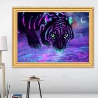 5d diy diamond painting animal tiger kit full drill square embroidery diamond mosaic art picture of rhinestones home decor sale