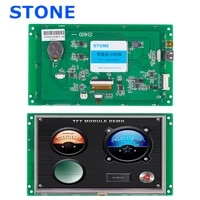 open frame lcd display panel 7 with touch controller program for industrial usage
