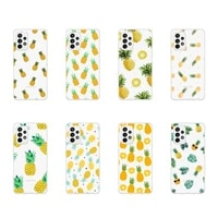 pineapple yellow fruit pattern phone case transparent for samsung galaxy a s note 9 11 10 51 50 71 70 80 20 21 30s ultra plus
