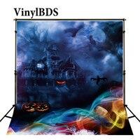 VinylBDS תפאורות ליל כל הקדושים רקע ילדי צילום רקע אגדה יער טירת רקע צילום תפאורות