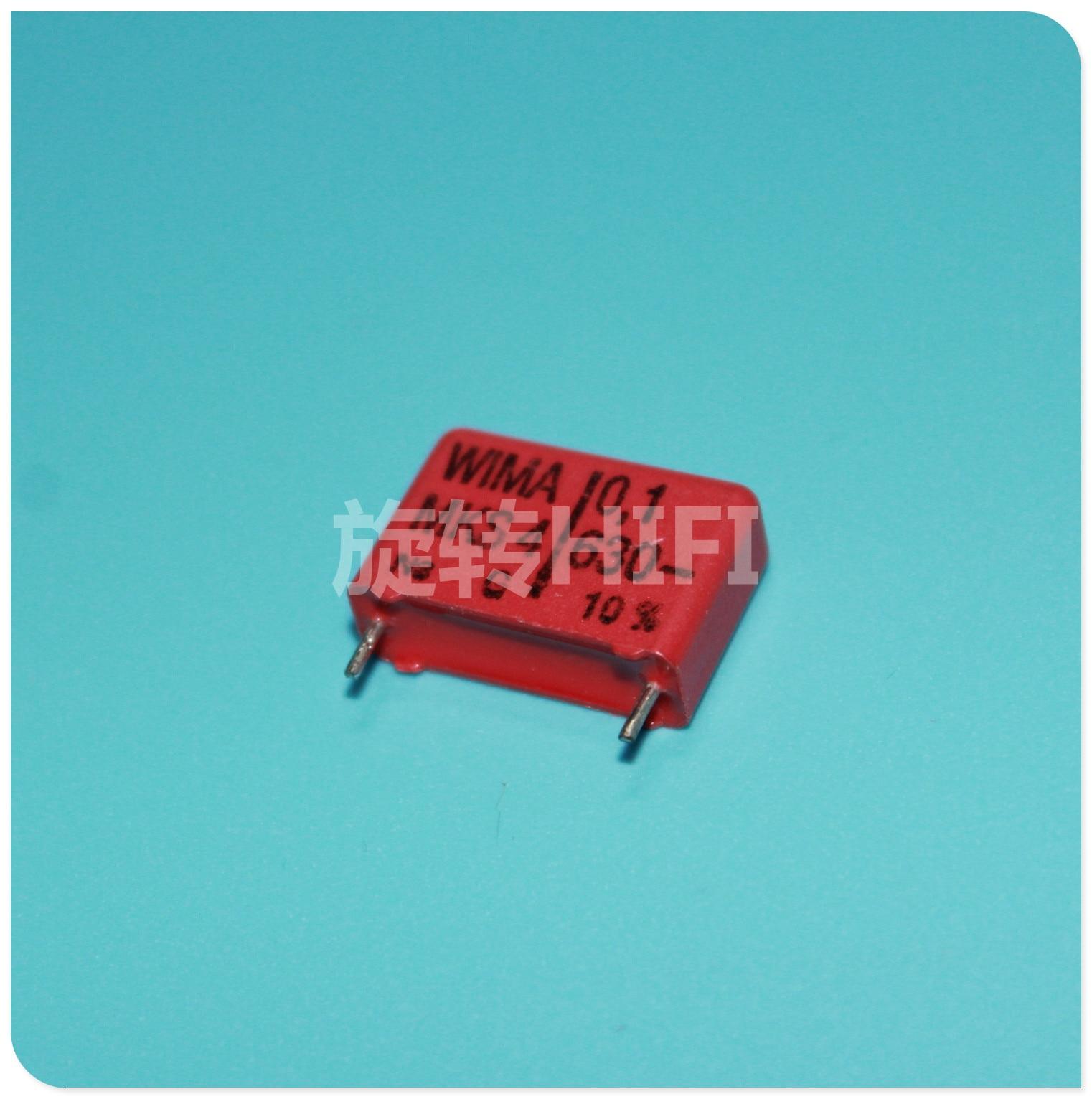 10 pçs vermelho wima mks4 0.1 uf 630 v pcm15 original novo MKS-4 104/630 v p15mm áudio 104 venda quente 0.1 uf/630 v 100nf