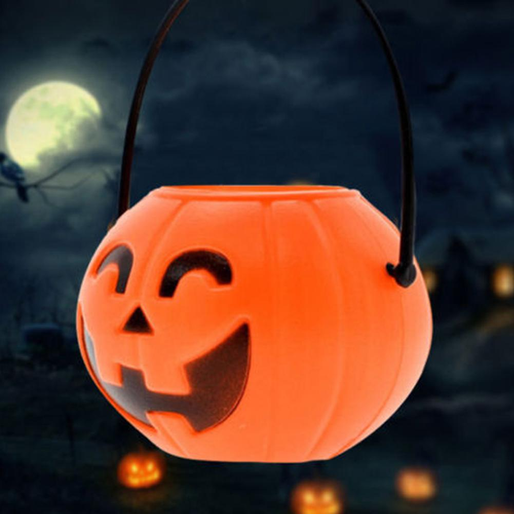 Contenedor de almacenamiento duradero, para decoración de fiestas, cubos, cesta para truco o trato de nueva calavera para dulces de Halloween