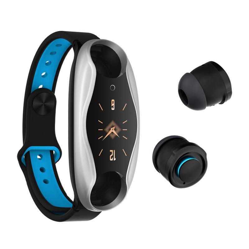 Reloj inteligente T90 con Bluetooth 5,0, Monitor de ritmo cardíaco, pulsera inteligente Larga modo de reposo reloj deportivo