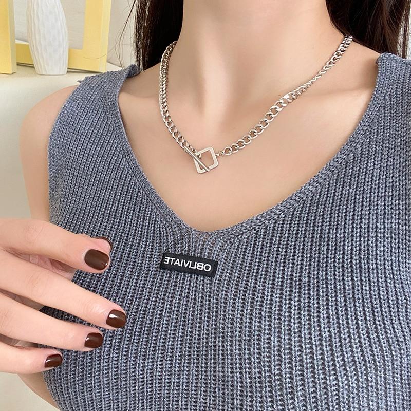 Европейская-и-американская-мода-простое-ожерелье-с-красной-пряжкой-из-сетчатой-ткани-темпераментная-цепочка-до-ключиц-в-стиле-хип-хоп-для