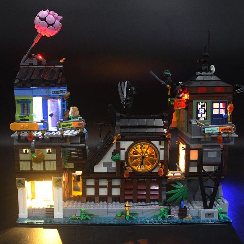Kit de luz Led para LegoSet 06083 modelo de bloques de construcción de muelles de la ciudad de nanjia Seires 70657 (no incluye juego de bloques)