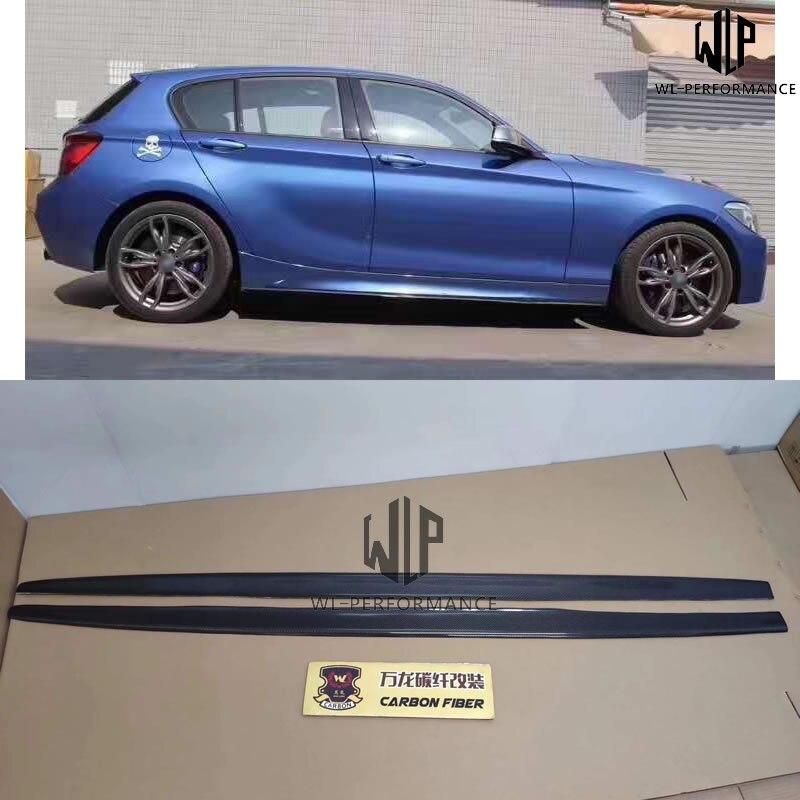 F20 jupes latérales de Style de voiture   En Fiber de carbone de haute qualité, convient pour BMW série 1 F20 M-Tech MP Kit de carrosserie de voiture 11-15