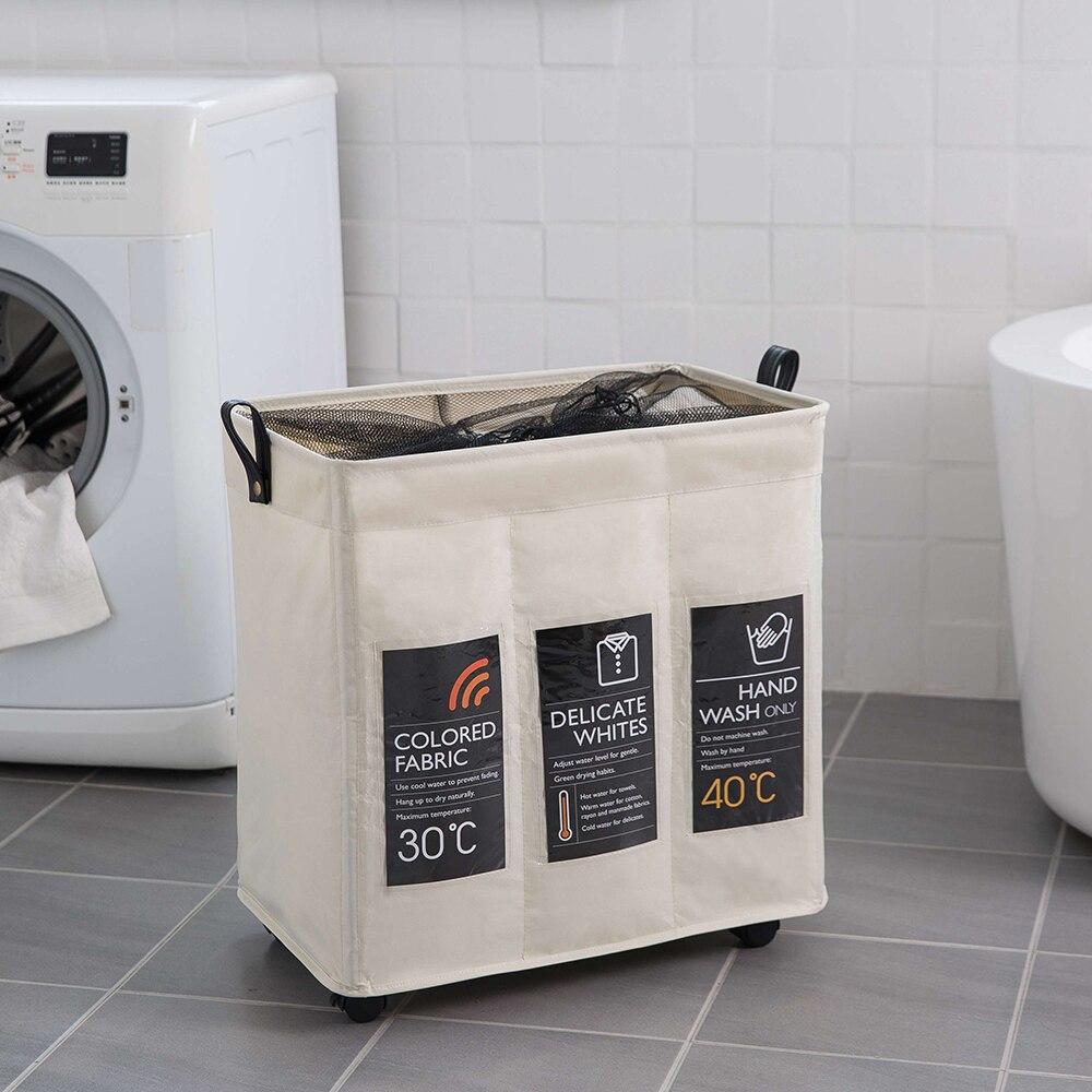 طوي سلة الغسيل القذرة مع عجلات كراسي الملابس المحمولة المنظم سلة التخزين أكياس الغسيل عالية السعة