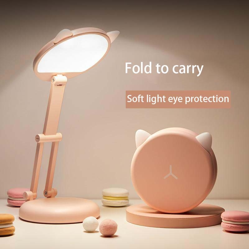 LED cute desk lamp eye protection student learning charging folding portable bedside  Free shipping for bedroom table lamp original royole smart memory desk lamp touch sensor dimming table eye protection folding for learning working charging novelty