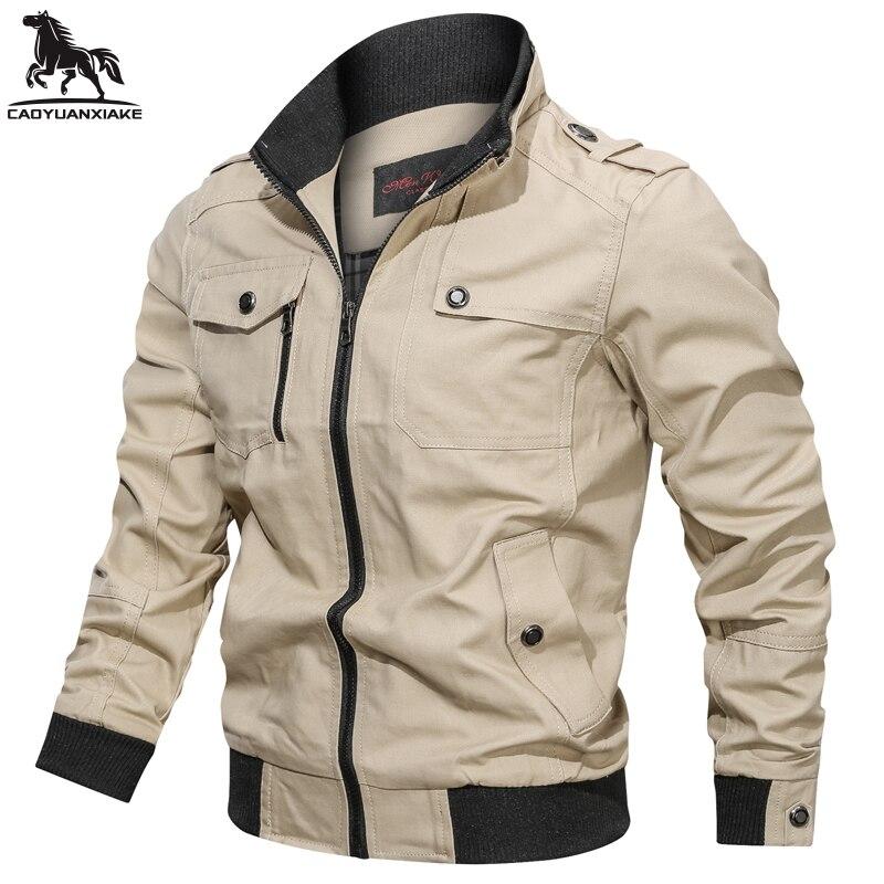 Мужская ветровка, весенне-осенняя ветровка, мужская куртка-пилот, мужская куртка-бомбер, куртка-карго, мужская одежда