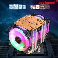 X79 X99 CPU Cooler 6 Heat Pipes 4 Pin PWM RGB PC quiet Intel LGA 2011 775 1200 1150 1151 1155 AMD AM3 AM4 90mm CPU Cooling Fan