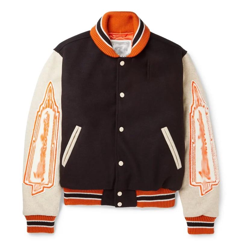 Bap-e 2021 Baseball Jacket Top Retro Sports Wool Jacket Uniform INS Code@B1